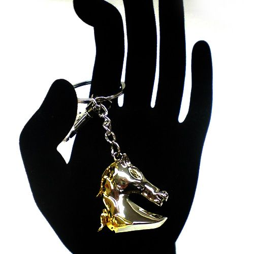 Брелок Philippi Horse - серебристая златогривая лошадь, фото