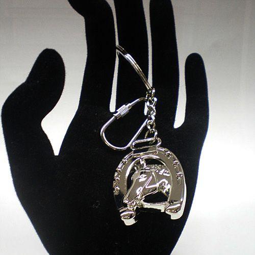 Брелок Philippi Horse - серебристый конь с подковой на счастье, фото