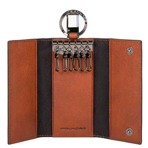 Ключница Piquadro Bk Square коричневого цвета, фото