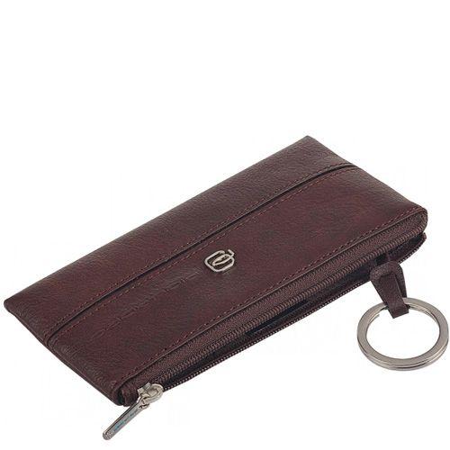 Ключница Piquadro Vibe коричневая на молнии, фото