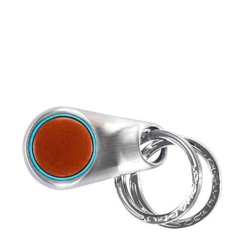 Брелок круг Piquadro с 2 кольцами Blue Square рыжий, фото
