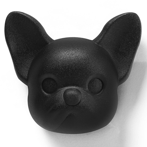 Ключница настенная Qualy Frenchy Dog черная собака, фото