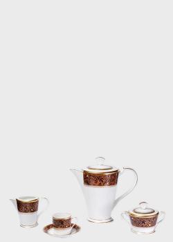 Кофейный набор на 12 персон Noritake Xavier Gold 29пр, фото