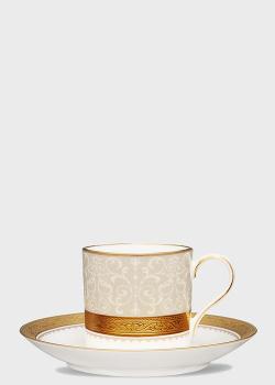 Чашка с блюдцем Noritake Odessa Gold 0,09л, фото