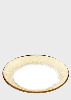 Блюдо IVV Orizzonte с золотистым декором 28см, фото