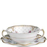 Чаша суповая с блюдцем Royal Crown Derby Antoinette, фото