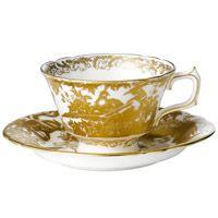 Чашка чайная с блюдцем Royal Crown Derby Gold Aves, фото