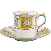 Чашка кофейная с блюдцем Royal Crown Derby Panel Green, фото