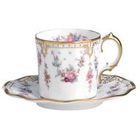 Чашка кофейная с блюдцем Royal Crown Derby Antoinette, фото