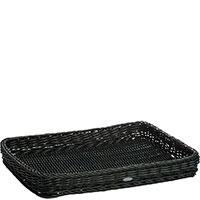 Поднос плетенный Saleen 40х30х5см черного цвета , фото
