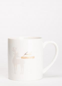 Чашка Hutschenreuther Merry Christmas с изображением оленя, фото