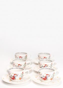 Набор чашек с блюдцами Hutschenreuther Christmas Carol для капучино 6 шт, фото