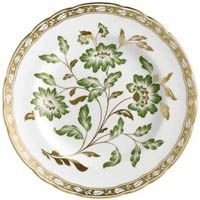 Тарелка Royal Crown Derby Panel Green с рисунком по центру 21.5 см, фото