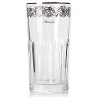 Хрустальный стакан для сока Christofle с платиновой отделкой, фото