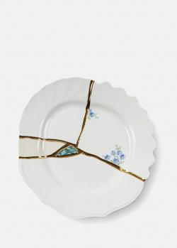 Десертная тарелка с цветами Seletti Kintsugi 21см, фото