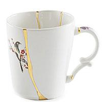 Чашка Seletti Kintsugi с узором белого цвета, фото