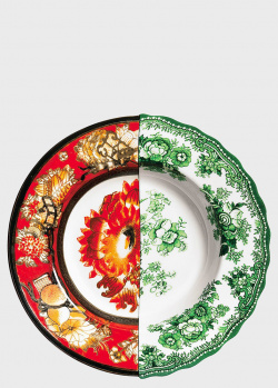 Суповая тарелка Seletti Hybrid Cecilia из костяного фарфора 25,4см, фото