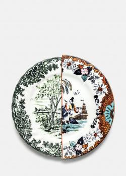 Тарелка обеденная Seletti Hybrid Ipazia из фарфора, фото