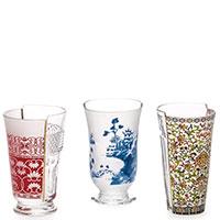 Набор из 3-х стаканов Seletti Hybrid Clarice для коктейлей, фото
