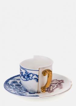 Фарфоровая чашка Seletti Hybrid Eufemia с блюдцем, фото