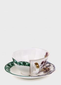 Чашка Seletti Hybrid Isidora с блюдцем из фарфора, фото