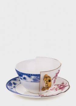 Чашка для чая Seletti Hybrid Zenobia с блюдцем, фото