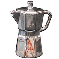 Фарфоровая кофеварка Seletti серебрянного цвета, фото