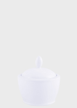 Сахарница Noritake Ambience White 0,32л с крышкой, фото