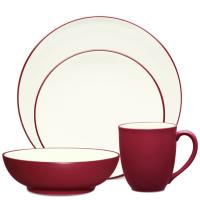 Набор посуды Noritake Colorwave из 4 предметов бордового цвета, фото