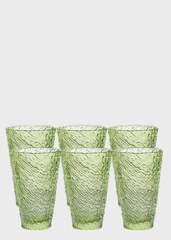 Набор стаканов IVV Iroko зеленого цвета 400мл, фото