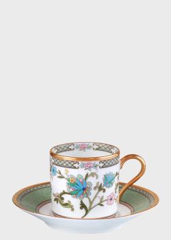 Чашка с блюдцем Noritake Yoshino 0,25л с цветочным рисунком, фото