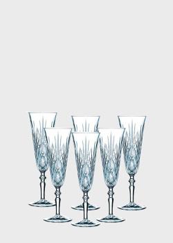 Набор бокалов Nachtmann Palais 0,14л для шампанского 6шт, фото