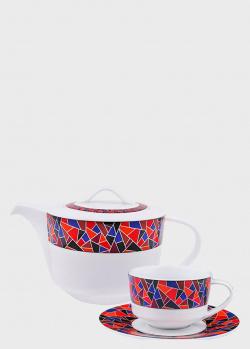 Сервиз чайный на 6 персон DPL Miracle из 17 предметов, фото