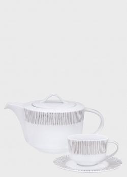 Чайный сервиз DPL Platinum Tracy на 6 персон из 17 предметов, фото