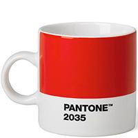 Чашка Pantone Red 2035 из керамики красного цвета, фото
