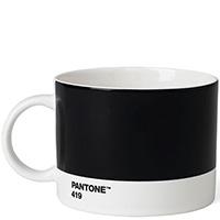 Черная чашка для чая Pantone Black 419 475 мл, фото