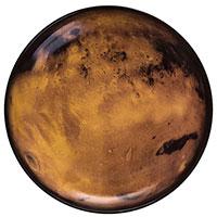 Тарелка Seletti Cosmic Diner в форме планеты оранжевого цвета, фото