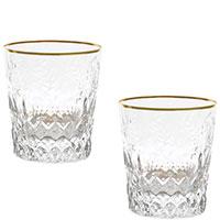 Набор стаканов Rogaska Gallia Gold для виски, фото
