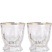 Набор стаканов для виски Rogaska Aulide Gold 9,5см из 2 штук, фото