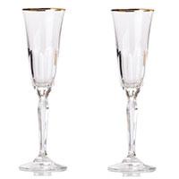 Набор бокалов для шампанского Rogaska Aulide Gold 22,5см, фото