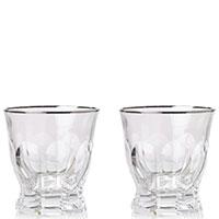 Набор стаканов Rogaska Aulide Platino для виски 9,5см из 2 штук, фото