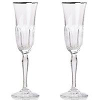 Набор бокалов Rogaska Aulide Platino для шампанского 22,5см из 2 штук, фото