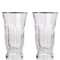 Набор стаканов Rogaska Aulide Platino 14,5см из 2 штук, фото