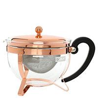 Чайник заварочный Bodum Chambord c крышкой медного цвета 1 л, фото