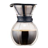Кофейник Bodum Pour Over с двойными стенками черного цвета 1 л, фото