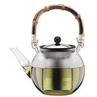 Заварочный чайник Bodum Assam с бамбуковой ручкой 1,5 л, фото