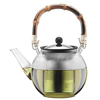Заварочный чайник Bodum Assam с бамбуковой ручкой 1 л, фото