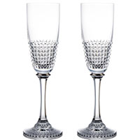 Набор бокалов Rogaska Diamond Platina для шампанского из 2 штук, фото