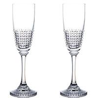 Набор бокалов Rogaska Diamond для шампанского 23,6см из 2 штук, фото