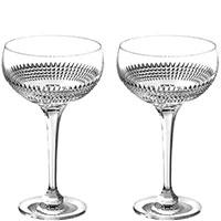 Набор бокалов Rogaska Diamond для розового шампанского из 2 штук, фото